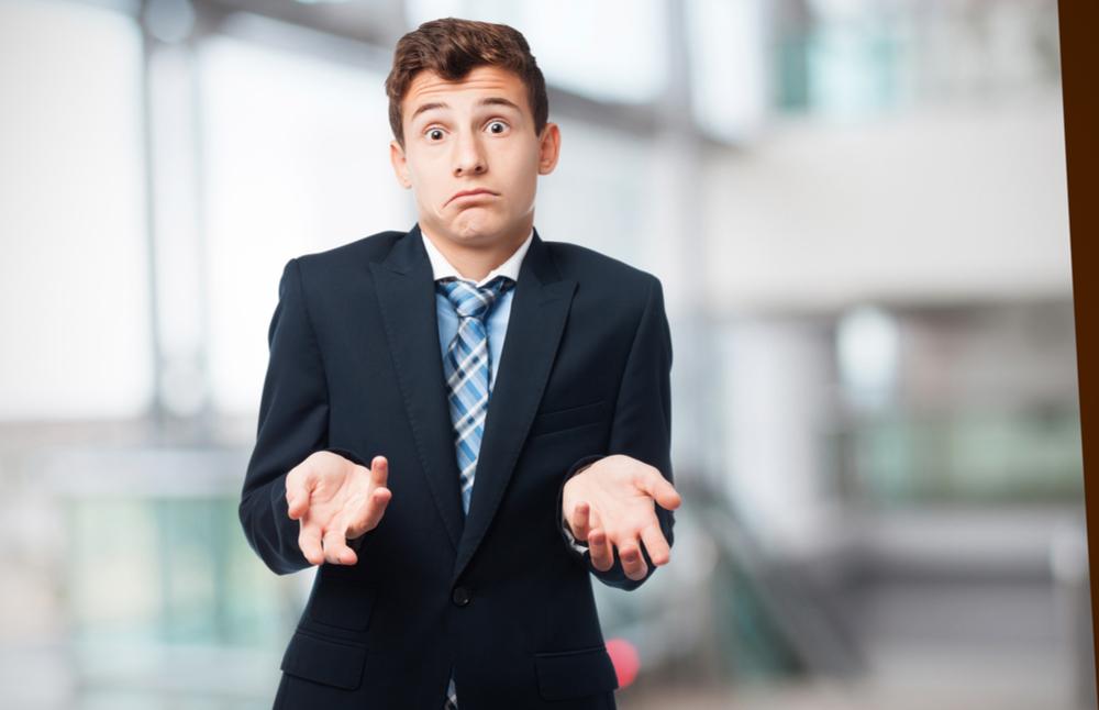 businessman confused over cash flow vs profit