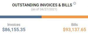 Outstanding Invoices & Bills